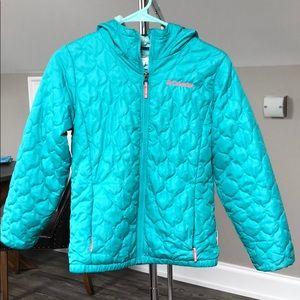 Girls Columbia puffer jacket with fleece inside
